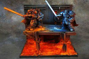 Star Wars and Warhammer crossover diorama
