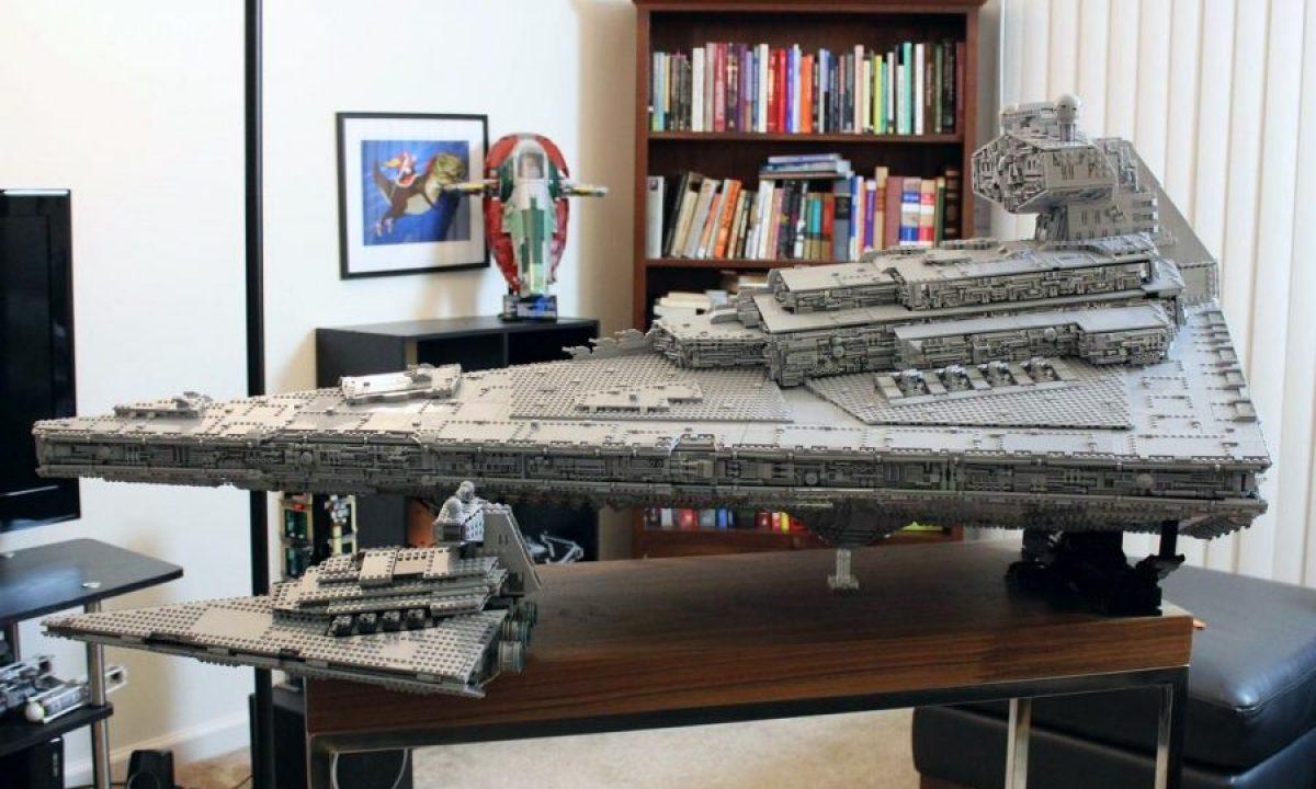 Huge, custom-made Lego Imperial Star Destroyer