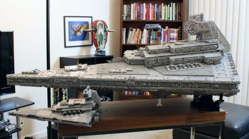 Huge, custom-made Lego Imperial Star Destroyer