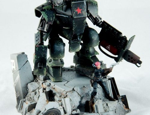 """""""Nightwatch"""" – A mecha diorama from Dust Tactics"""